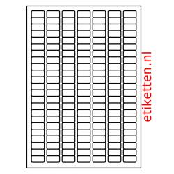 25 x 12 mm 100 vellen per doos 161 etiketten per vel