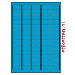 38 x 21 mm 100 vellen per doos 65 etiketten per vel BLAUW