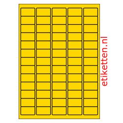 38 x 21 mm 100 vellen per doos 65 etiketten per vel GEEL