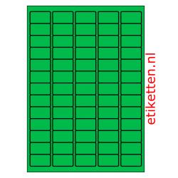 38 x 21 mm 100 vellen per doos 65 etiketten per vel GROEN