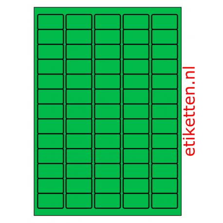 38 x 21 mm 100 vel p.doos GROEN