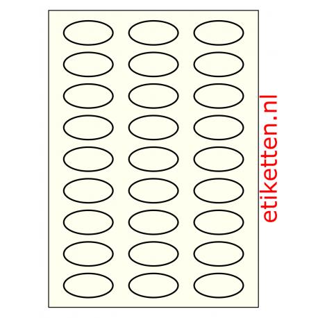 50 x 25 mm OVAAL 100 vel per doos IVOOR