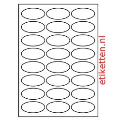 63 x 31 mm 100 vellen per doos 24 etiketten per vel OVAAL GLANS