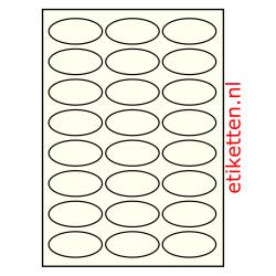 63 x 31 mm 100 vellen per doos 24 etiketten per vel OVAAL IVOOR