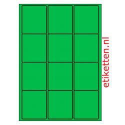 63 x 72 mm 100 vellen per doos 12 etiketten per vel GROEN