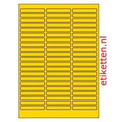 65 x 11 mm 100 vellen per doos 63 etiketten per vel GEEL VRIJSTAAND