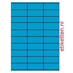70 x 29 mm 100 vellen per doos 30 etiketten per vel BLAUW