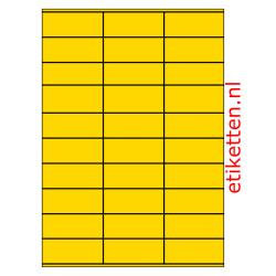 70 x 29 mm 100 vellen per doos 30 etiketten per vel GEEL