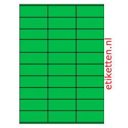 70 x 29 mm 100 vellen per doos 30 etiketten per vel GROEN