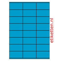 70 x 36 mm 100 vellen per doos 24 etiketten per vel BLAUW