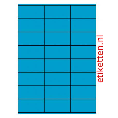 70 x 36 mm 100 vel p.doos BLAUW