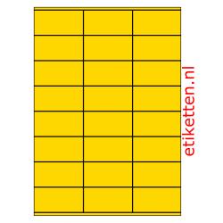 70 x 36 mm 100 vellen per doos 24 etiketten per vel GEEL