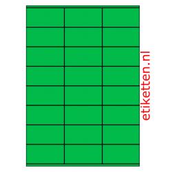 70 x 36 mm 100 vellen per doos 24 etiketten per vel GROEN