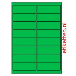 99 x 34 mm 100 vellen per doos 16 etiketten per vel GROEN