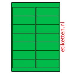 99 x 38 mm 100 vellen per doos 14 etiketten per vel GROEN