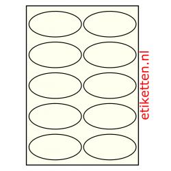 99 x 49 mm  100 vellen per doos 10 etiketten per vel OVAAL IVOOR