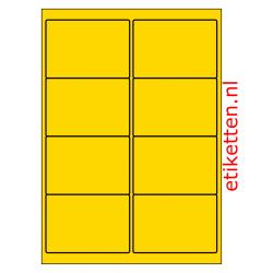 99 x 68 mm 200 vellen per doos 8 etiketten per vel PMV GEEL