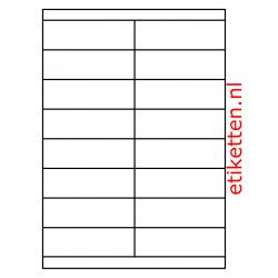 105 x 33 mm 1.000 vellen per doos 16 etiketten per vel