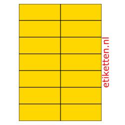 105 x 42 mm 100 vellen per doos 14 etiketten per vel GEEL