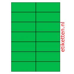 105 x 42 mm 100 vellen per doos 14 etiketten per vel GROEN