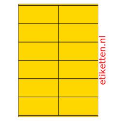 105 x 48 mm 100 vellen per doos 12 etiketten per vel GEEL