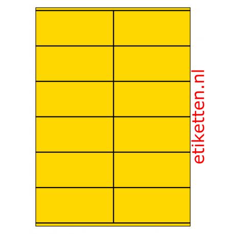 105 x 48 mm 100 vel p.doos GEEL