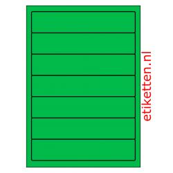 192 x 39 mm 100 vellen per doos 7 etiketten per vel GROEN