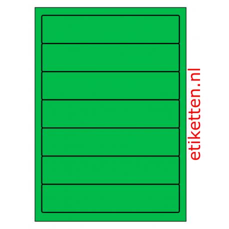 192 x 39 mm 100 vel p.doos GROEN