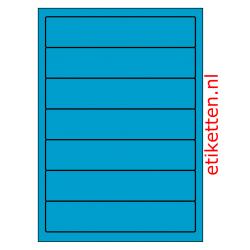192 x 39 mm 100 vellen per doos 7 etiketten per vel BLAUW
