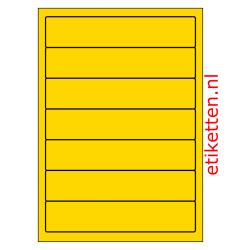 192 x 39 mm 100 vellen per doos 7 etiketten per vel GEEL