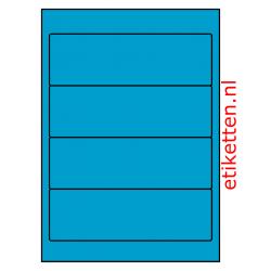 192 x 62 mm 100 vellen per doos 4 etiketten per vel BLAUW