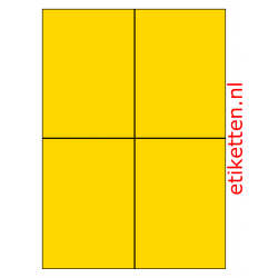 105 x 148 mm 100 vellen per doos 4 etiketten per vel GEEL
