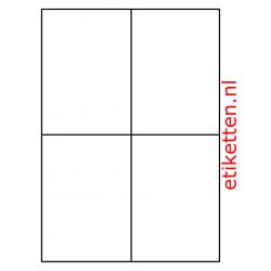 Kunststof Etiketten Autobanden 105 x 148 mm 200 vellen per doos 4 etiketten per vel PE WIT