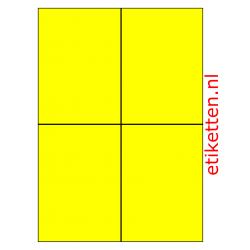 Kunststof Etiketten Autobanden 105 x 148 mm 200 vellen per doos 4 etiketten per vel PE GEEL