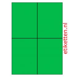 Kunststof Etiketten Autobanden 105 x 148 mm 200 vellen per doos 4 etiketten per vel PE GROEN