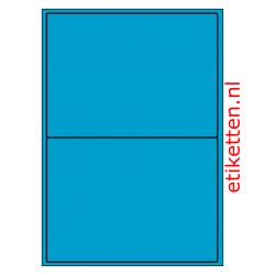 199 x 143 mm 100 vellen per doos 2 etiketten per vel BLAUW