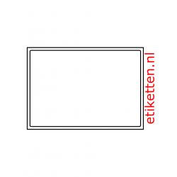 A5 etiket  200 x 138 mm 100 vel p.doos, gestripte randen