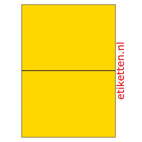 210 x 148 mm 100 vel p.doos GEEL