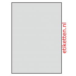 210 x 296 mm 50 vellen per doos 1 etiket per vel 2 slitten in de backing ALUMINIUM