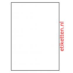 210 x 296 mm 100 vellen per doos 1 etiket per vel 2 slitten in de backing MAT TRANSPARANT