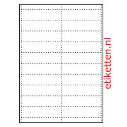 100 x 27 mm 100 vellen per doos 20 schappenkaarten per vel