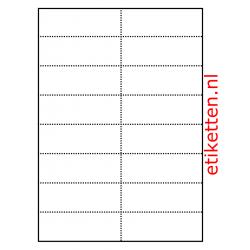 105  x 37 mm 100 vellen per doos 16 schappenkaarten per vel