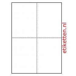 105 x 148 mm 100 vellen per doos 4 schappenkaarten per vel