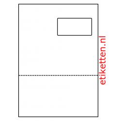 Master Form Etiket 03  200 vellen per doos 1 etiket per vel + afscheurstrook