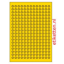 10 mm Rond 100 vellen per doos 234 etiketten per vel GEEL