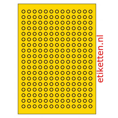 10 mm Rond 100 vel p.doos 234 per vel GEEL