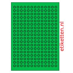 10 mm Rond 100 vellen per doos 234 etiketten per vel GROEN