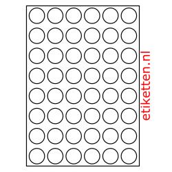 30 mm Rond 100 vellen per doos 48 etiketten per vel