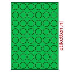 30 mm Rond 100 vellen per doos 48 etiketten per vel GROEN