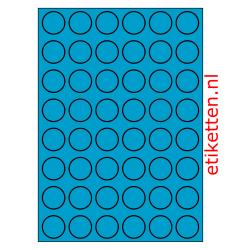 30 mm Rond 100 vellen per doos 48 etiketten per vel BLAUW